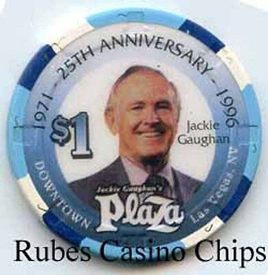 1.00 Chip from the Plaza Casino in Las Vegas Nevada Gaughan
