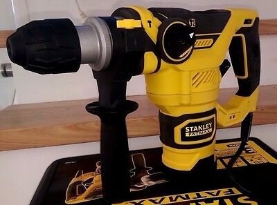 NEW STANLEY FatMax 1250W SDS Rotary Hammer Drill and  Carry Case FME125OK-XE