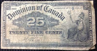 Canada 25 Cents 1900 Sign Bouville