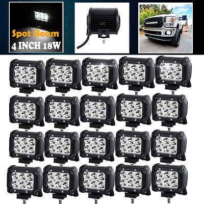 "NEW 20X 18W Spot Light Bar 4"" 4inch LED Work ATV Off-Roads Fog Driving Cree UTV"