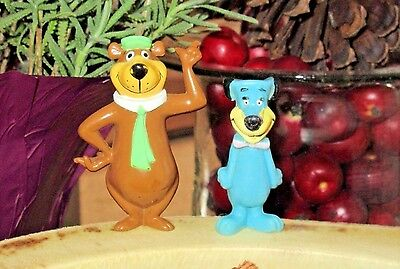 "Hanna Barbera YOGI BEAR & Huckleberry Hound Applause 2"" PVC Figures RARE 1980!!!"