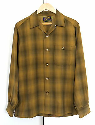 Vintage Sir Pendleton Shadow Plaid rockabilly shirt. Mint. Medium