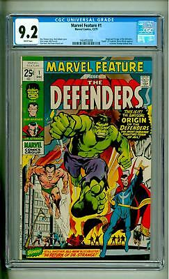 Marvel Feature #1 Cgc 9.2 White Pages First Defenders 1971