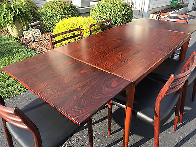 danish moller rosewood chairs model 78 dining table mid century modern