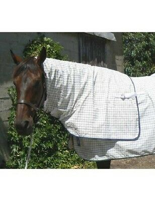 SKYE PARK Quality Horse Neck Rug in White/Navy