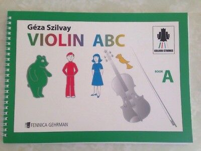 Gera Szilvay Violin ABC Book A, Colour Strings, Paperback Learn Violin