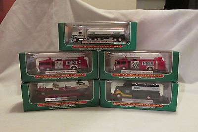 Lot of 5 - Hess Truck Miniatures - 1998, 2 of 1999, 2000, 2002