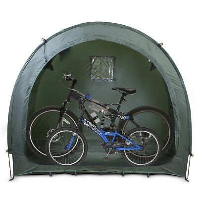 Outdoor Garden Bike BBQ Storage Shed Tent Tidy Trekking Bicycle Waterproof Green