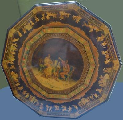 Signed Italian Inlaid & Painted Centre Table Lot 151
