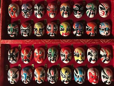 Hand Painted 28 Chinese Opera Masks Collection