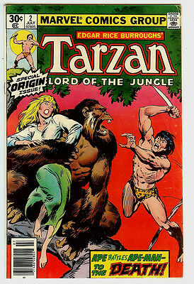 Tarzan #2 (Jul 1977, Marvel) Origin Issue