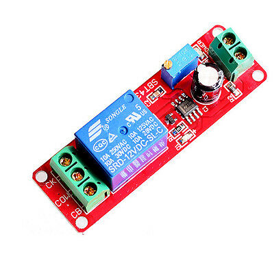 NE555 Adjustable Relay Module Pull Delay Timer Switch 0 to 20 Second DC 12V