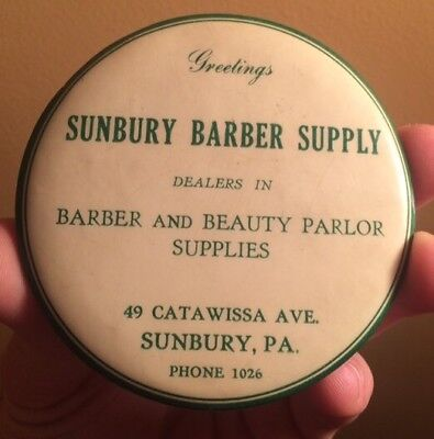 Antique Sunbury Pa Barber Advertising Clothes Brush Celluloid