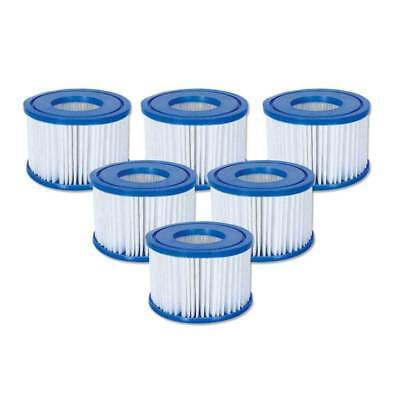 Bestway Lay-Z-Spa Cartridge Filter - 6 Pack | Size VI For Inflatable Spa