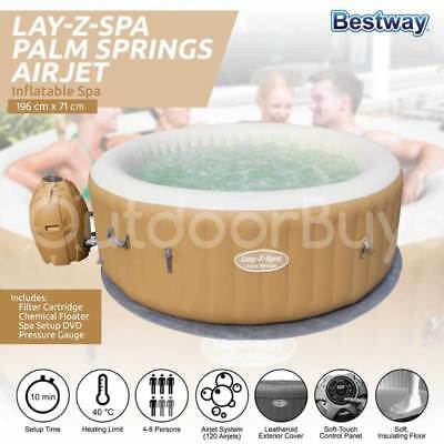 Bestway Inflatable Spa Hot Tub | Lay-Z-Spa Palm Springs Indoor Outdoor Portable