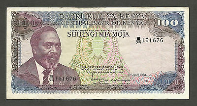 Kenya 100 Shillings 1978, VF+; P-18, L-B118a, Lion's head watermark