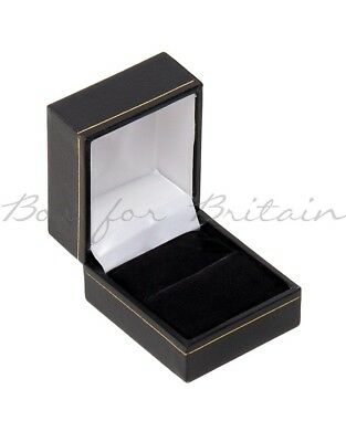 Leatherette Ring Box Black 10 X Ring Boxes, Whole sale price £9.90