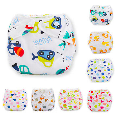 Cute Baby Infant Reusable Washable Soft Cloth Nappy Cover Adjustable Diapers 1PC