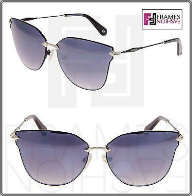 326cf52b7b BALMAIN BL 2515 Black Silver Mirror Cat Eye Limited Metal Sunglasses BL2515