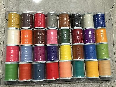 32 spools PacBay StayTru (NCP) thread 100 yard each Size C rod building, repair