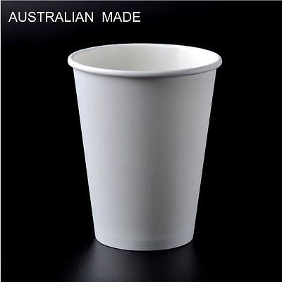 1000Pcs White Single wall disposable paper coffee cups Only 8oz  12oz  16oz