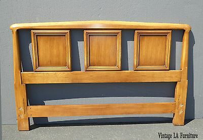 Vintage White Furniture Co. Mid Century Modern Wood Queen Size HEADBOARD