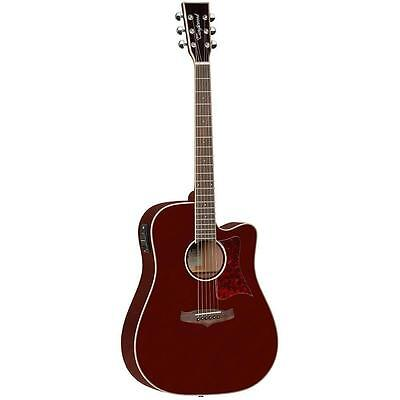 TANGLEWOOD WINTERLEAF dreadnought acoustic electric guitar, Burg Red, save $100