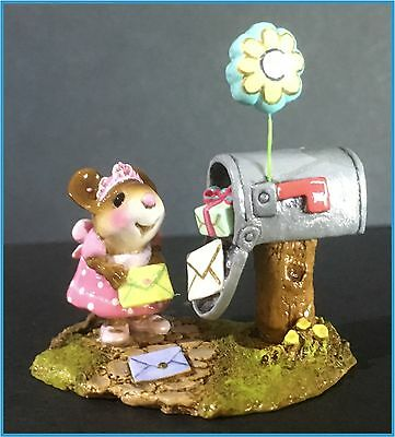 "Wee Forest Folk Miniature Mouse Figurine - ""Best Birthday Ever"" (M-383)"