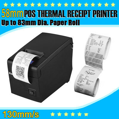 USB 58mm ESC/POS Thermal Dot Receipt Printer for Andriod IOS Windows 130mm/s UK