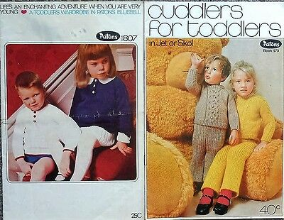 Patons12 Ply & 5 Ply Knitting Pattern Book Of Toddler Designs-Pants,dresses,top