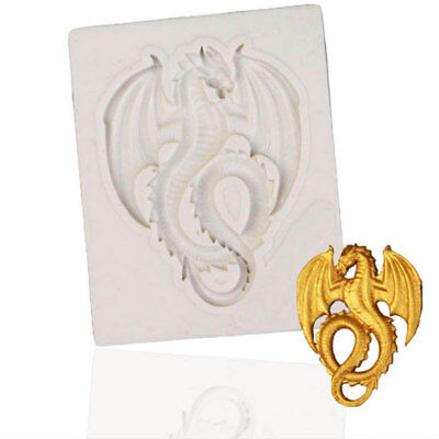 Dragon Fondant Silicone Mould Chocolate Decor Sugarcraft Clay Kitchen Tools