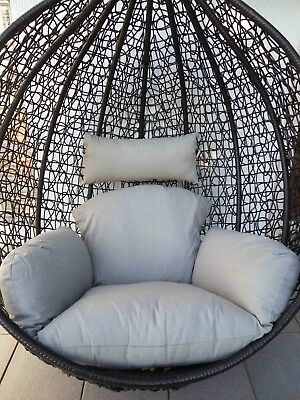 Brand New * Replacement Cushion set for Swing Egg Pod Wicker Chair * Grey