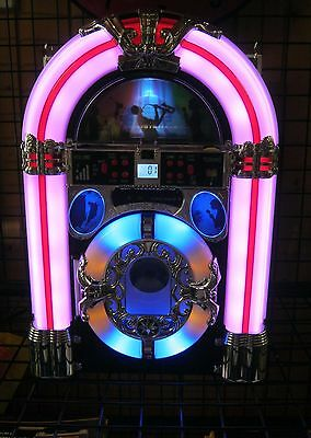 BABY WURLITZER CD Radio Bluetooth SD Card USB inklusive. Kleine JUKEBOX