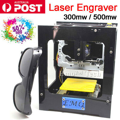 300 / 500mw Laser Engraving Machine Engraver Marking Carver Cutting Printer Kit
