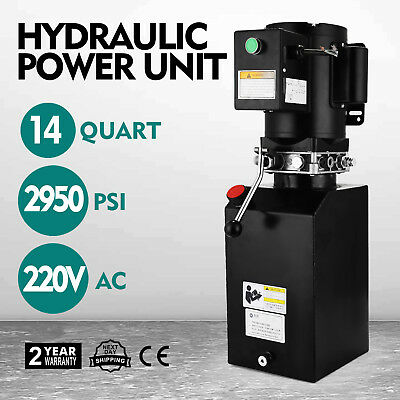 14l Car Lift Hydraulic Power Unit 60hz 1 ph 220V 3hp 2.2kw SIMPLE TO HANDLE