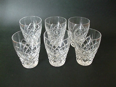 6 only QUALITY BOHEMIA CRYSTAL WHISKY GLASSES