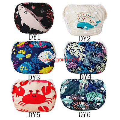 Swim Nappy Diaper Leakproof Reusable Adjustable Baby Infant Boy Girl Toddler