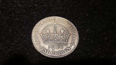 1938  -   Kgv  1 Crown  Australian George V -  5 Shillings    --  Token .-.