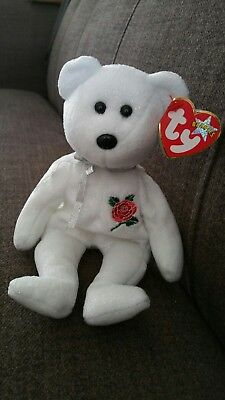 TY Beanie Baby. Rose. European Exclusive. Mint Condition.