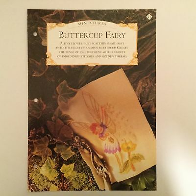 Needlework pattern: Buttercup fairy embroidery design and instructions