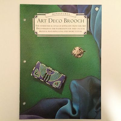 Needlework pattern: Embroidered Art Deco brooch design and instructions