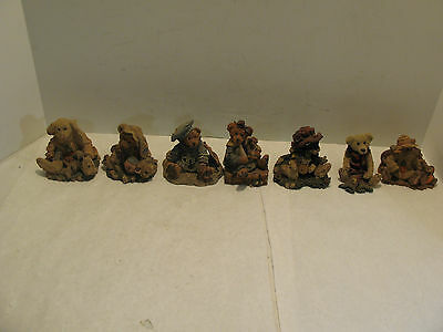 1993 Boyds Bears & Friends Bearstone Collection Figurines Lot Of 7  #1