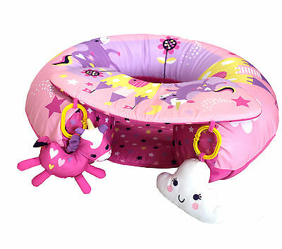 Sit Me Up Inflatable Activity Baby Play Ring In Pink Unicorn NEW DESIGN FOR 2017