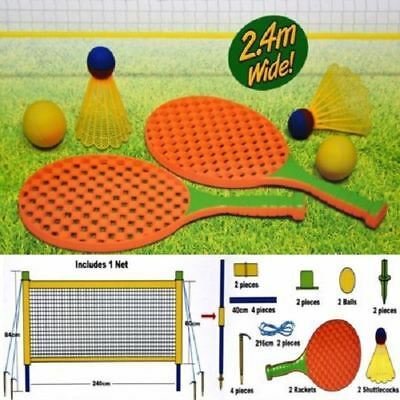 New Family Tennis Set Garden Game Outdoor Family Ball Badminton Racket Net Toys