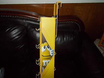 RARE M&M Mars Collectors EASY to Display Hanging Rack Metal Display Rack 4 Tier