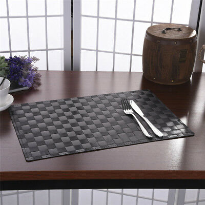 PP Dining Room Weave Woven Placemats Table Heat Insulation Place Mats