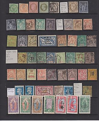 French Colonies, Early Collection, Mint And Used, High Cat Value!!!