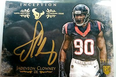 JADEVEON CLOWNEY Inception Gold Signings RC 18/25