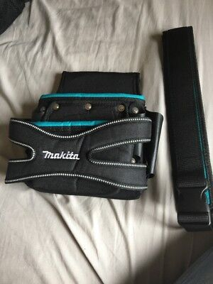 Makita P-71750 2 Pocket Fixing Pouch With Belt - New Blue Range