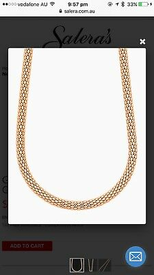 50cm 9ct solid Rose Gold Chain